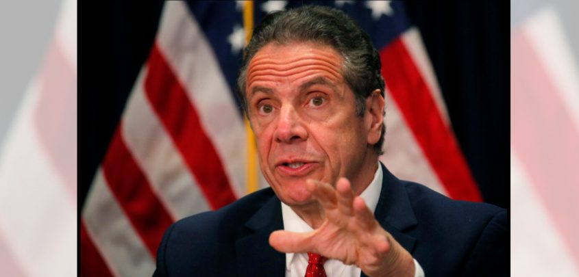 Gov. Andrew Cuomo speaks during a news conference at his offices in New York, Wednesday