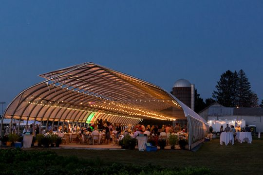 The High Tunnel greenhouse at Pitney Meadows Community Farm in Saratoga Springs is seen in this file photo. The first live concerts there by the Chamber Music Society of Lincoln Center will be held at 3 and 6 p.m. on Sunday, June 13.