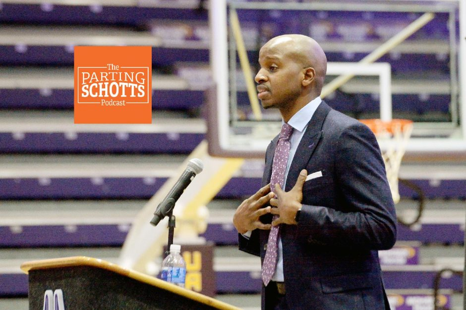 New UAlbany men's basketball coach Dwayne Haskins is a guest on the latest 'The Parting Schotts Podcast.'