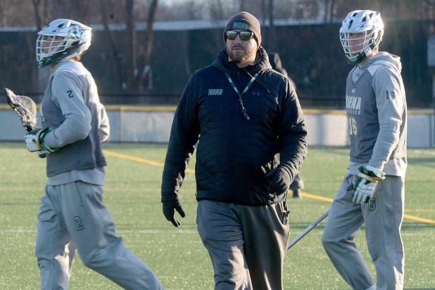 GAZETTE FILE PHOTOSienamen's lacrosse head coach Liam Gleason's team lost 11-9 at Detroit Mercy on Saturday.