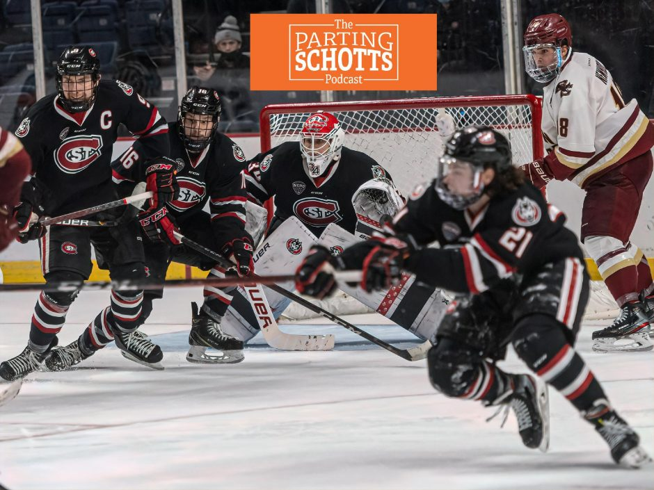 St. Cloud State is headed to the NCAA men's hockey tournament Frozen Four after beating Boston College 4-1 Sunday at Times Union Center.
