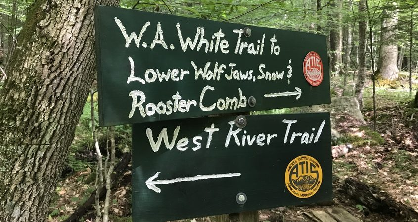 The West River Trail is a popular route for High Peak hikers who set off from the Ausable Club trailhead in St. Hubert's, just south of Keene Valley on Route 73.