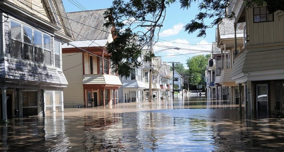 Ingersoll Avenue in Schenectady in August 2011, after Tropical Storm Irene