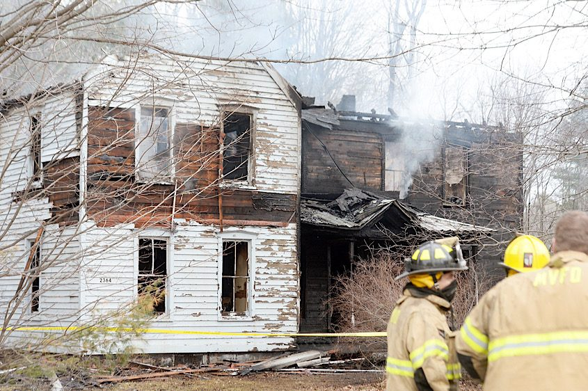 Firefighters on the scene Wednesday