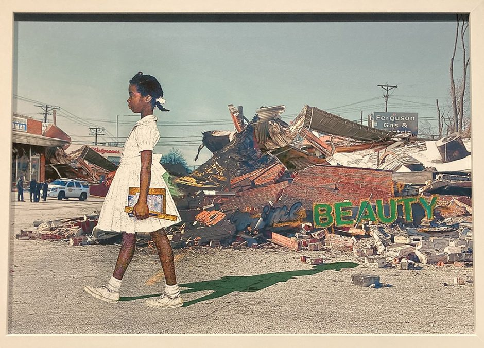 """""""The Problem Persists, 1964-2014,"""" by Pops Peterson, in the exhibit """"Rockwell Revisited"""" at the Norman Rockwell Museum."""