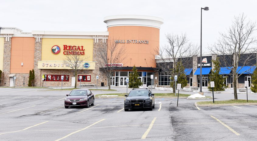 The Regal entrance to Clifton Park Center as seen March 25, 2020, just after the COVID-19 shutdowns.