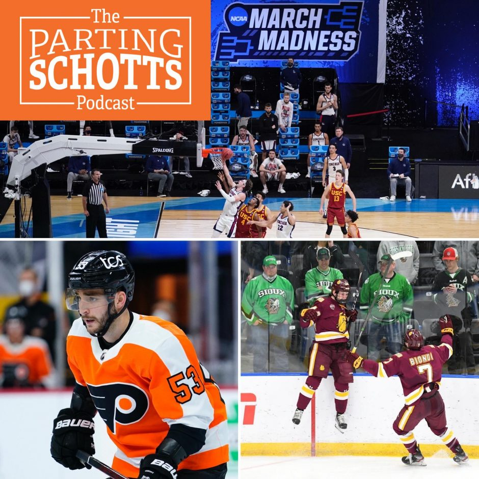 The NCAA men's basketball tournament Final Four, former Union Hockey defenseman Shayne Gostisbehere and Minnesota Duluth's 5OT win are the topics on 'The Parting Schotts Podcast.'
