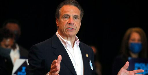 New York Governor Andrew Cuomo speaks at Rochdale Village Community Center in Queens,
