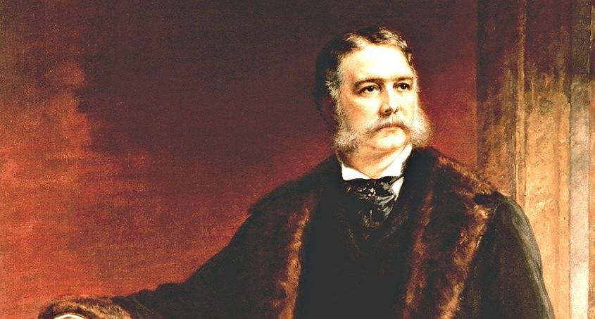 This painting of Chester A. Arthur is the official White House portrait by artist Daniel Huntington.