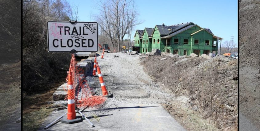 The Mohawk Hudson Bike Hike Trail is shown Tuesday in the vicinity of the new Rivers Ledge housing development under construction in Niskayuna.