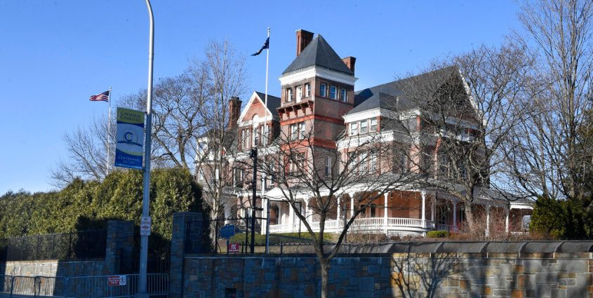 The New York state executive mansion in March