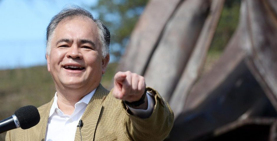 Former Commissioner of Public Safety Ron Kim announces his candidacy for mayor of Saratoga Springs while standingnear the9/11 Memorial in High Rock Park in Saratoga Springs on Wednesday.