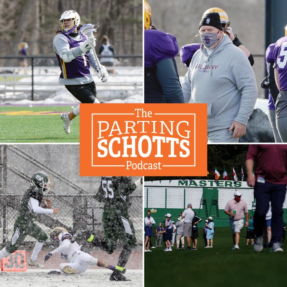 Daily Gazette staffers Mike MacAdam (on UAlbany men's lacrosse), Adam Shinder (on UAlbany football) and Michael Kelly (on high school football), plus Sirius XM's Brian Katek previews theMasters on 'The Parting Schotts Podcast.'