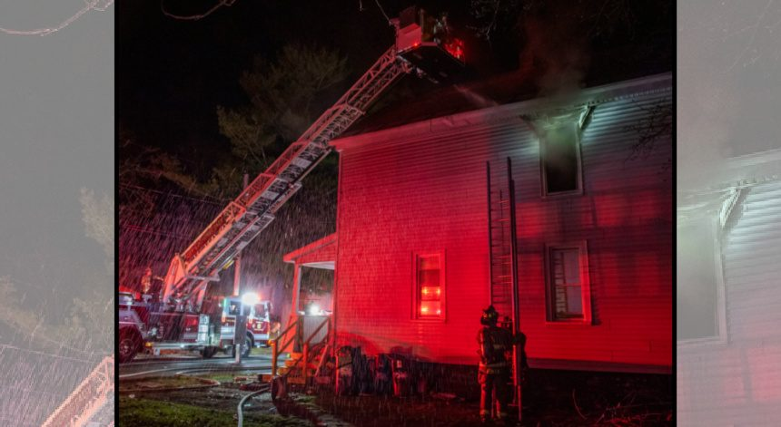 Firefighters at the scene late Thursday