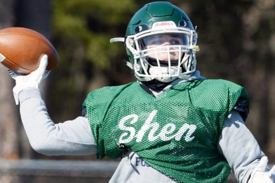 Quarterback Brody Vincenzi figured in four touchdowns in Shenendehowa's 55-00 win over Bethlehem on Saturday.