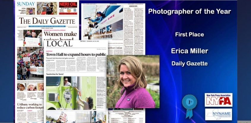 Daily Gazette Photographer Erica Miller has been named Photographer of the Year in the 2020 New York Press Association awards.