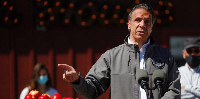 Gov. Cuomo speaks during an event last week in Walden, N.Y. (Shannon Stapleton/Pool Photo via AP)