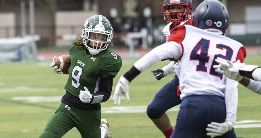 Trevon Joyner (9) and Shenendehowa are tied for the No. 2 spot in The Daily Gazette's Section II Class AA football power rankings.