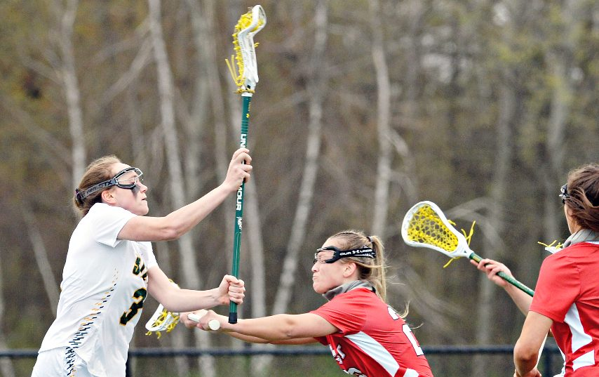 Kerry Gerety, left, scored five goals in Siena's win Tuesday.