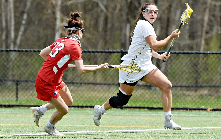 Siena's Annie Brennan, right, is shown during Tuesday's game.