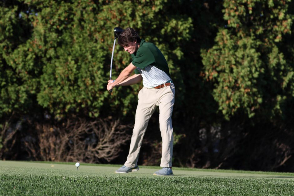 Sophomore Nolan Crowley, from Saratoga Springs, is the No. 2 player for the Siena College men's golf team currently playing in the MAAC championship.