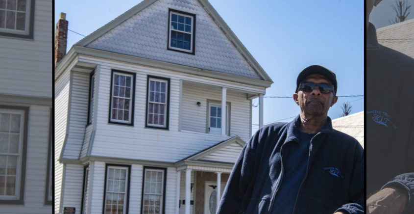 Mohabir Satram stands in front of the house he flipped at 956 Albany St. earlier this month.
