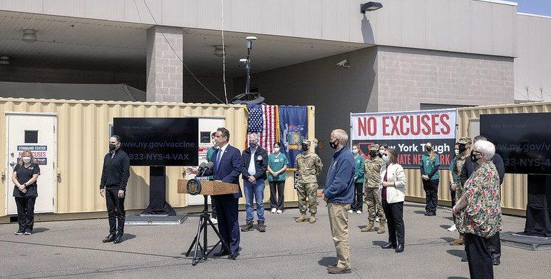 Gov. Andrew Cuomo speaks Tuesdayin Johnson City. Governor's Office