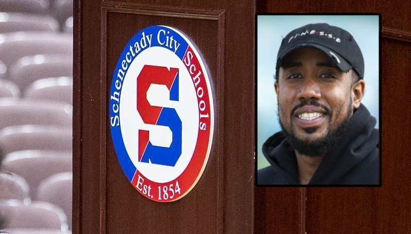 Schenectady school board candidate Prince Sprauve is pictured on Tuesday.