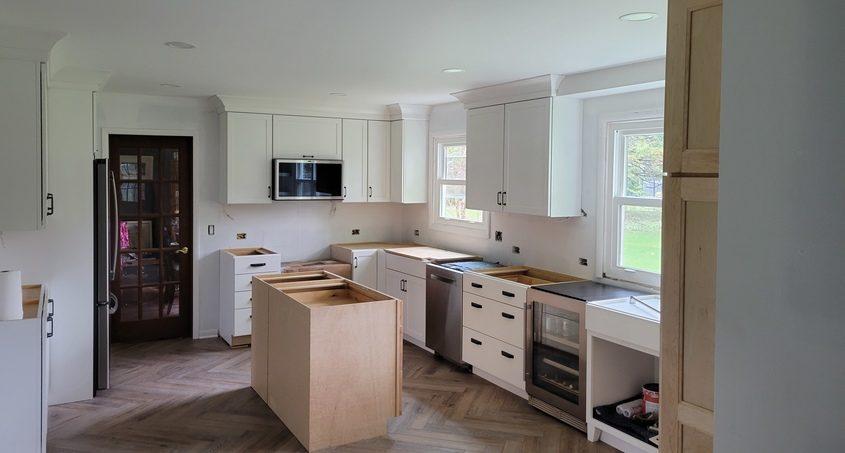 Freelance writer Joanne McFadden's kitchen nearing the finish line of a major renovation.