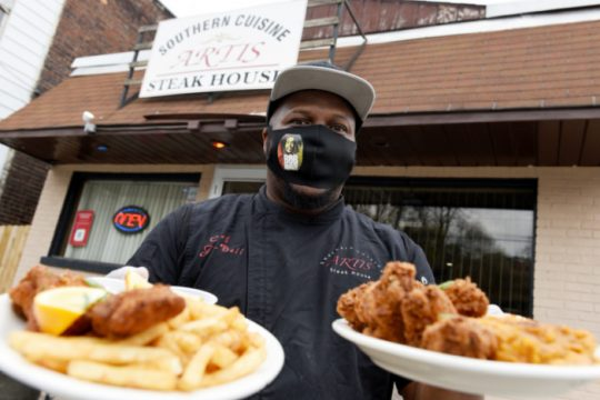 Ja-Dell Whitfield, owner of Artis Southern Cuisine & Steakhouse in Schenectady