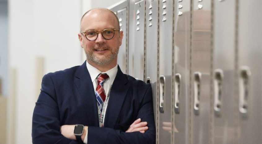 Aaron Bochniak, the Schenectady City School District'sacting superintendent,is picturedat Mont Pleasant Middle School on April 3, 2020.