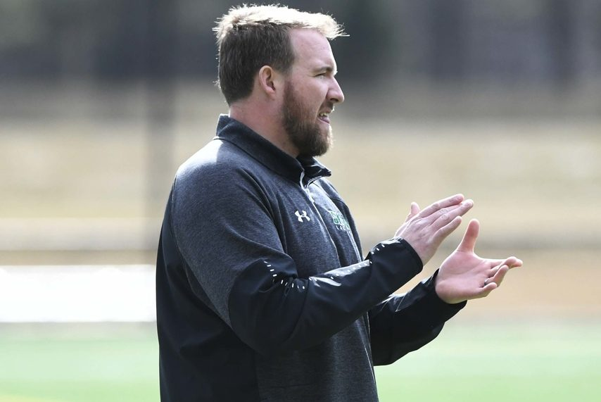 PETER R. BARBER/STAFF PHOTOGRAPHERHead coach Liam Gleason's Siena men's lacrosse team lost to Monmouth 12-11 in the MAAC quarterfinals on Friday/