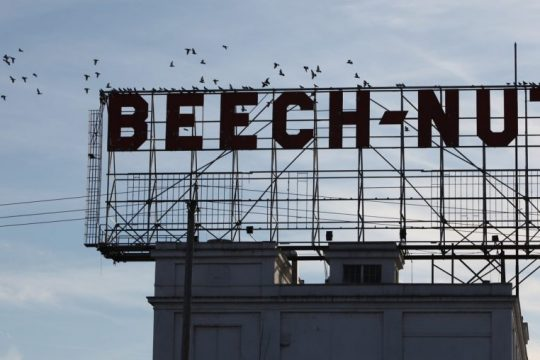 The sign over the Beech-Nut plan in Canajoharie is shown in November of 2010.