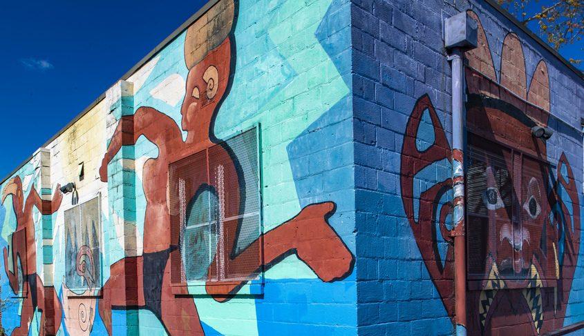 Hamilton Hill Arts Center mural on Schenectady Street.