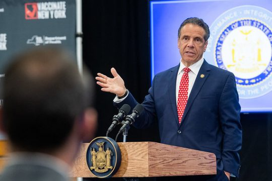 Gov. Andrew Cuomo last week - Governor's Office