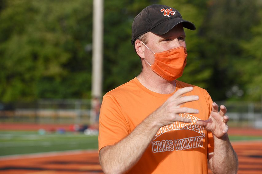 Mohonasen cross country coach Bill Sherman's young team won the Colonial Council championship meet on Saturday.