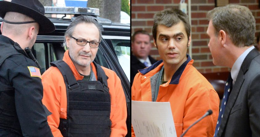 Georgios Kakavelos, left, arrives for court in November 2019; James Duffy with his attorney Andrew C. Blumenberg, right, in December 2019