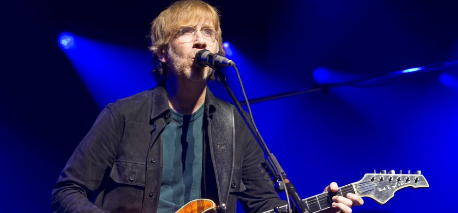 Trey Anastasio of the band Phish performs during an exclusive concert for SiriusXM and Pandora listeners at The Met on Dec. 3, 2019, in Philadelphia. (Photo by Owen Sweeney/The Associated Press)