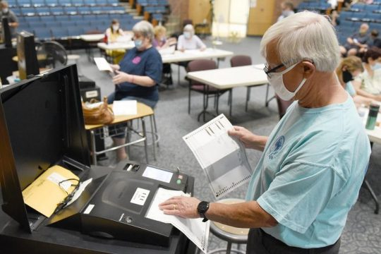 School ballot counting in Saratoga Springs last year