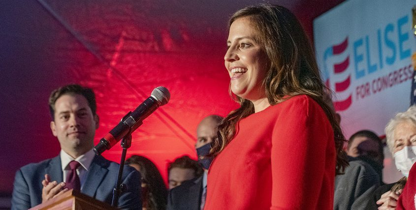 Congresswoman Elise Stefanik Election Night in Glens Falls in November