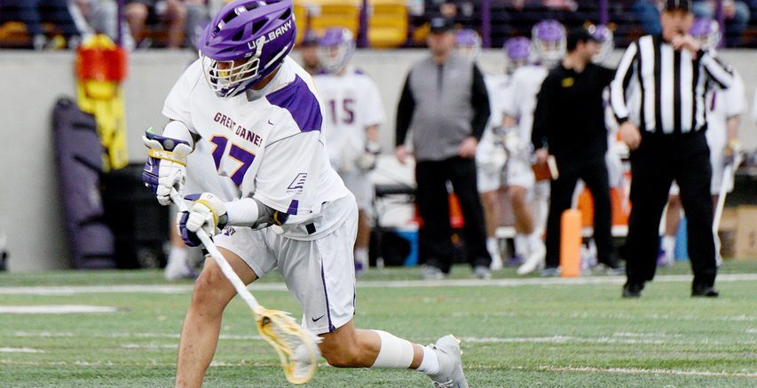 ERICA MILLER/GAZETTE PHOTOGRAPHER Jakob Patterson and the UAlbany men's lacrosse team take on UMBC in the America East semifinals at 1 p.m. on Thursday.