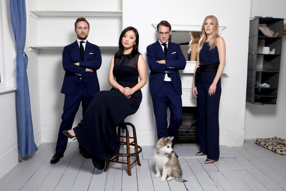 The London-based Doric Quartet opens the series on Oct. 10 along with pianist Jonathan Biss at Union College's Memorial Chapel. (provided/Benjamin Ealovega)