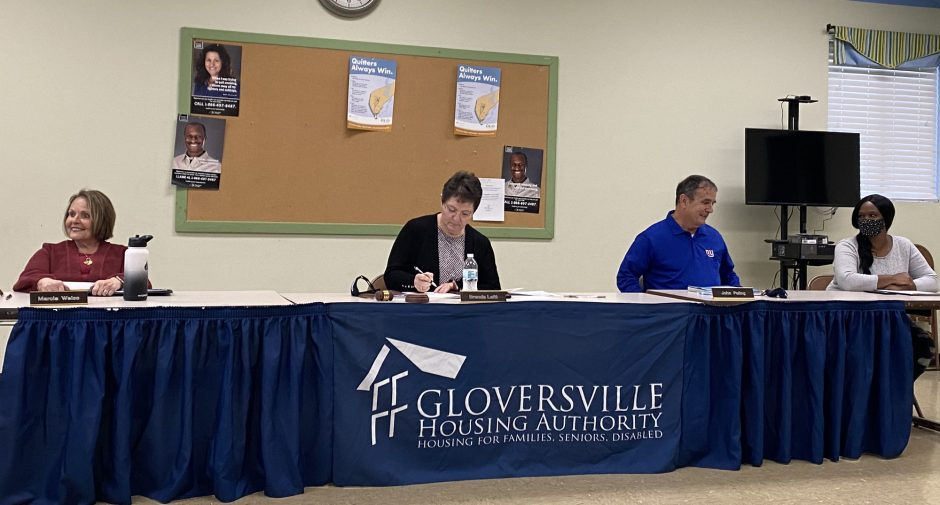 The Gloversville Housing Authority board conducts its monthly meeting Monday night.