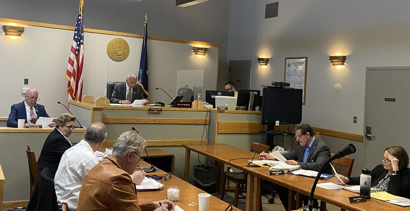 Mayor Vince DeSantis and members of the Gloversville Common Council discuss city issues Tuesday night during the council's meeting.
