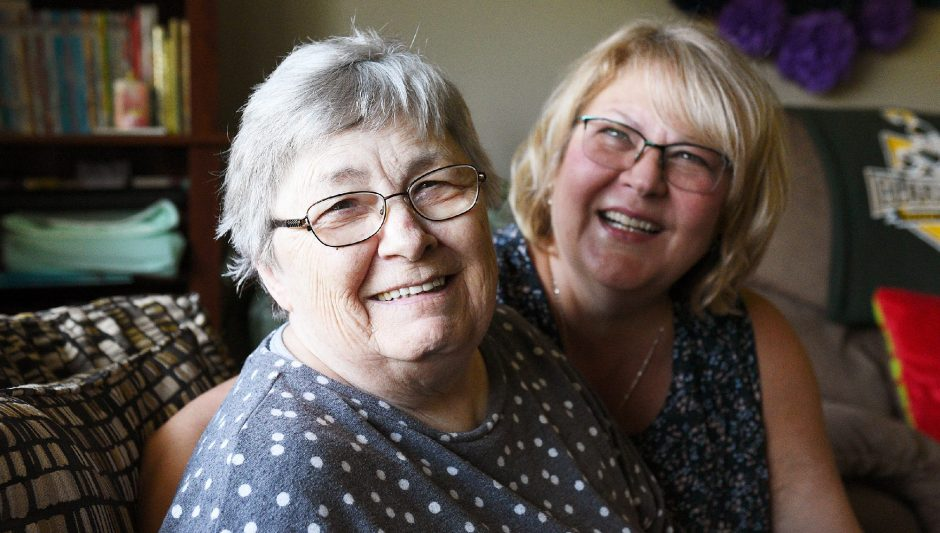 Susan Ryder is pictured with her mother, Betty Bednarowski, 78, who recently moved from a nursing home to her daughter's home in Rotterdam Junction. Bednarowski suffers from Alzheimer's disease.