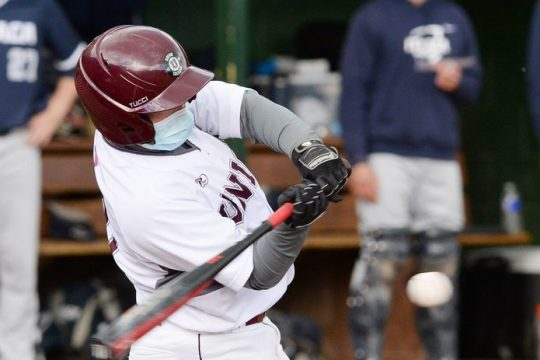 Union' College senior Joey Palko led the Dutchmen with three hits in Saturday's 19-4 loss to Rochester in the Liberty League title game at Towers Field in Rochester.