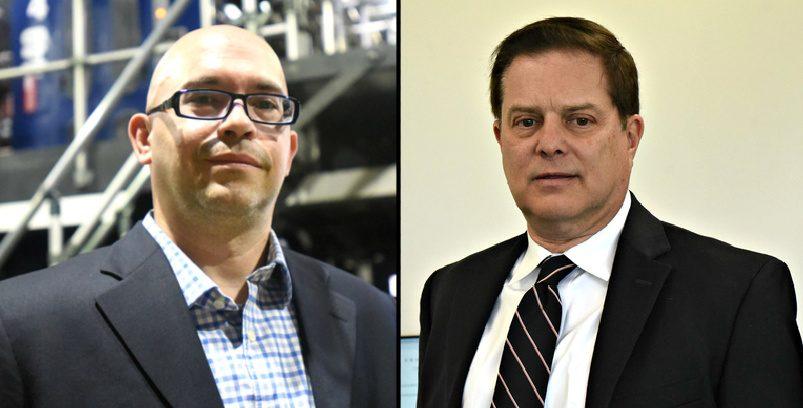 Gus Rivera, left, Steve Graubart, right