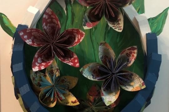 """Flowers"" by Art4Vets members Penny Lee Deere and Amy Zappa."