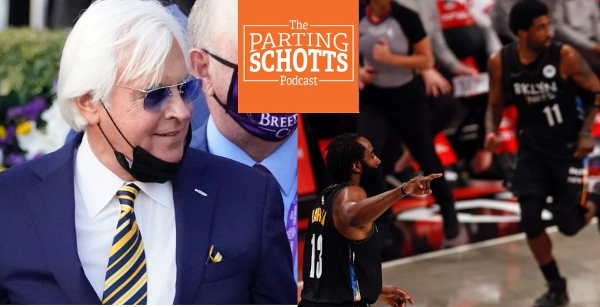 Horse racing trainer Bob Baffert and the NBA Playoffs are among the topics on the latest 'The Parting Schotts Podcast.'