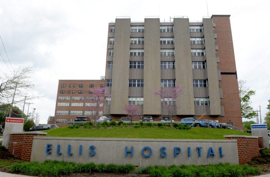 Ellis Hospitalin Schenectady is picturedf.